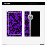 Monogram Purple Black Gray Damask Kindle Fire Skin
