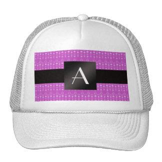 Monogram purple bubbles mesh hats