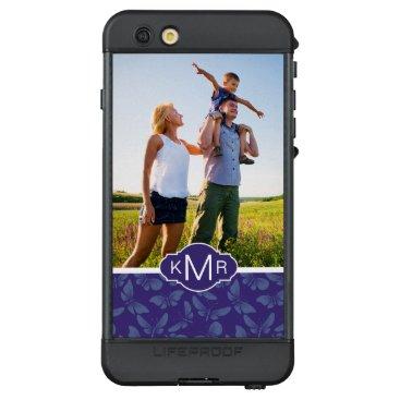 Beach Themed Monogram | Purple Butterflies LifeProof® NÜÜD® iPhone 6s Plus Case