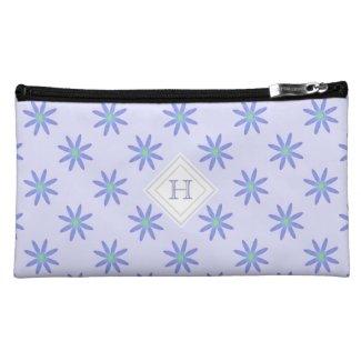 Monogram: Purple Daisy Bagettes Bag Makeup Bags