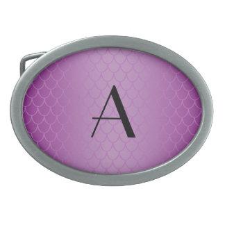 Monogram purple dragon scales belt buckle