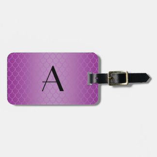 Monogram purple dragon scales tags for luggage