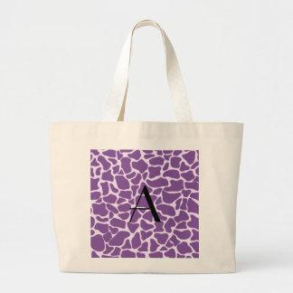 Monogram purple giraffe print canvas bags