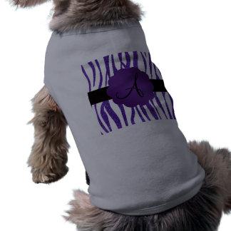 Monogram purple glitter stripes pet clothes