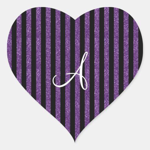 The Letter N In Purple GlitterThe Letter N In Purple