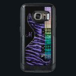 "Monogram Purple Guitar Music Otterbox S7 Case<br><div class=""desc"">Monogram Purple Guitar Music Otterbox Galaxy S7 Case.  A purple tiger striped electric guitar with rainbow lights reflected on the neck. for your favorite guitar player musician or music lover. Fill in your initial at the prompt to personalize and customize anyway you like.</div>"