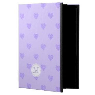 Monogram Purple Heart Powis iCase iPad Air Cover For iPad Air
