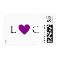 Monogram Purple Heart Stamp