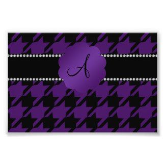 Monogram purple houndstooth photograph