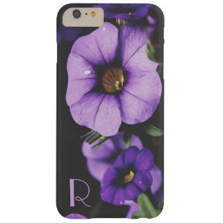 Monogram Purple, Lavender Petunia Flower Blossoms Barely There iPhone 6 Plus Case