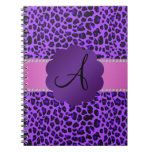 Monogram purple leopard print journal