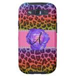 Monogram purple leopard purple rose galaxy SIII cases