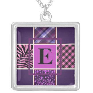 Monogram Purple Mix Necklace