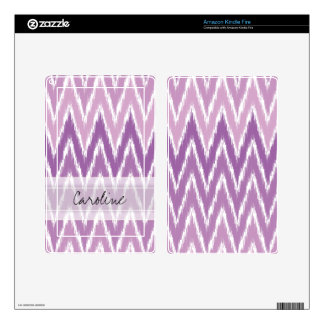 Monogram Purple Ombre Ikat Chevron Zig Zag Pattern Kindle Fire Decal