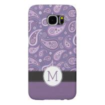 Monogram Purple Paisley Retro Pattern Samsung Galaxy S6 Case