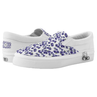 Monogram Purple Pansy Zipz Shoes