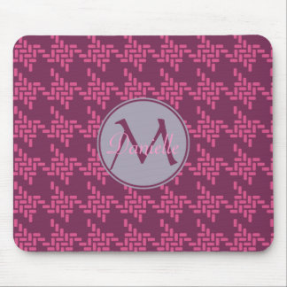 Monogram Purple Pink Grey Japanese Chidorigoshi Mouse Pad