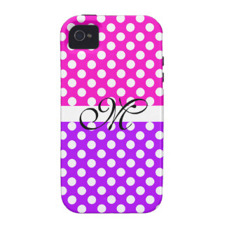 Monogram Purple Pink Pattern Girly Cute Modern Case-Mate iPhone 4 Case