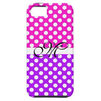 Monogram Purple Pink Pattern Girly Cute Modern iPhone SE/5/5s Case