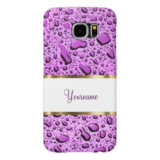 Monogram Purple Raindrops Samsung Galaxy S6 Case