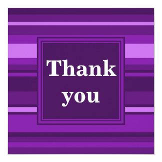 Monogram purple stripes card