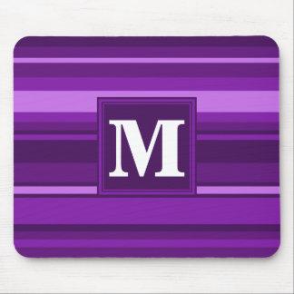 Monogram purple stripes mouse pad