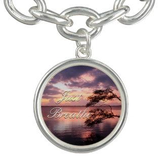 Monogram Purple Sunset Charm Bracelet