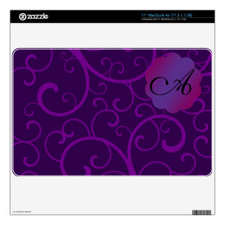 """Monogram purple swirls 11"""" MacBook air skin"""