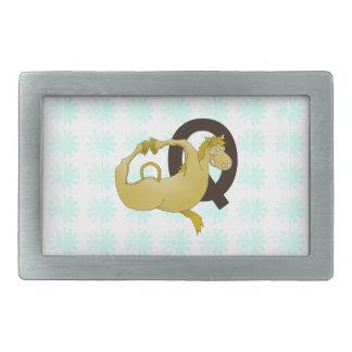 Monogram Q Cartoon Pony Personalized Belt Buckle