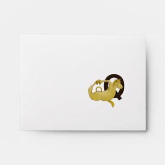Monogram Q Funny Pony Personalized Envelope