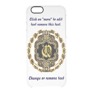 Monogram Q iPhone 5/5s & 6-6 plus  Deflector Case Uncommon Clearly™ Deflector iPhone 6 Case