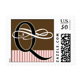 Monogram Q Postage -- Pick Your Own Color!