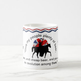 Monogram Quote of ER Victoria, Give My People Beer Coffee Mug