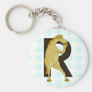 Monogram R Agile Pony Customized Keychain