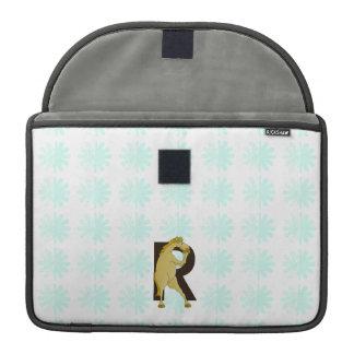 Monogram R Agile Pony Customized MacBook Pro Sleeve