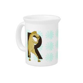 Monogram R Agile Pony Customized Pitcher