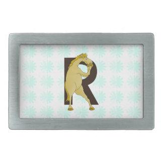 Monogram R Agile Pony Customized Rectangular Belt Buckle