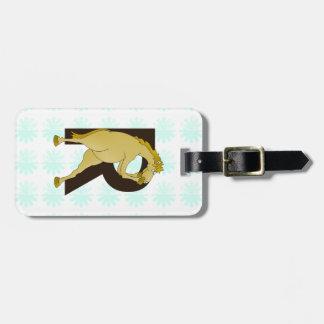 Monogram R Agile Pony Customized Tag For Luggage