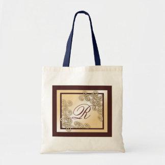 Monogram, R Tote Bags