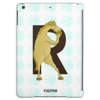 Monogram R Cartoon Pony Customized iPad Air Cover