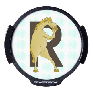 Monogram R Cartoon Pony Customized LED Window Decal