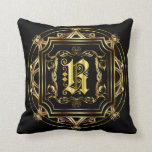 Monogram R Fits all Customize Edit For Back Color Pillow