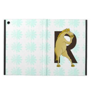 Monogram R Funny Pony Personalised iPad Air Cover