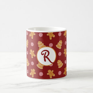 Monogram R' Gingerbread Cookie Christmas Mug