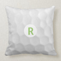 Monogram R Golf Ball Throw Pillow