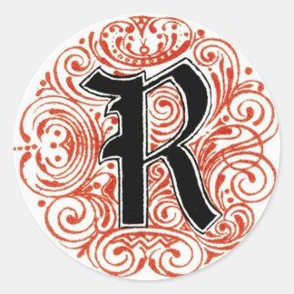 Monogram 'R' in Red - Sticker