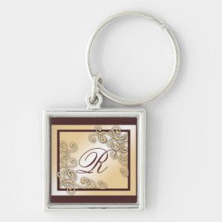 Monogram 'R' Keychain
