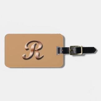 Monogram R Luggage Tag