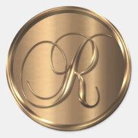 Monogram R NONMETALLIC Bronze Envelope Seal
