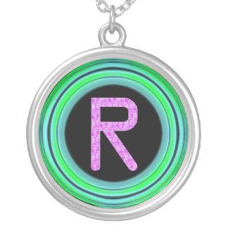 "Monogram ""R"" Pendants"